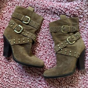 Joan & David distressed suede leather boots